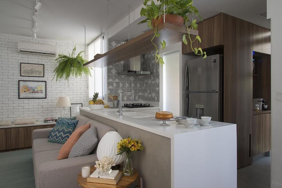 Bancada Separa Cozinha Da Sala Com Imagens Sala De Apartamento