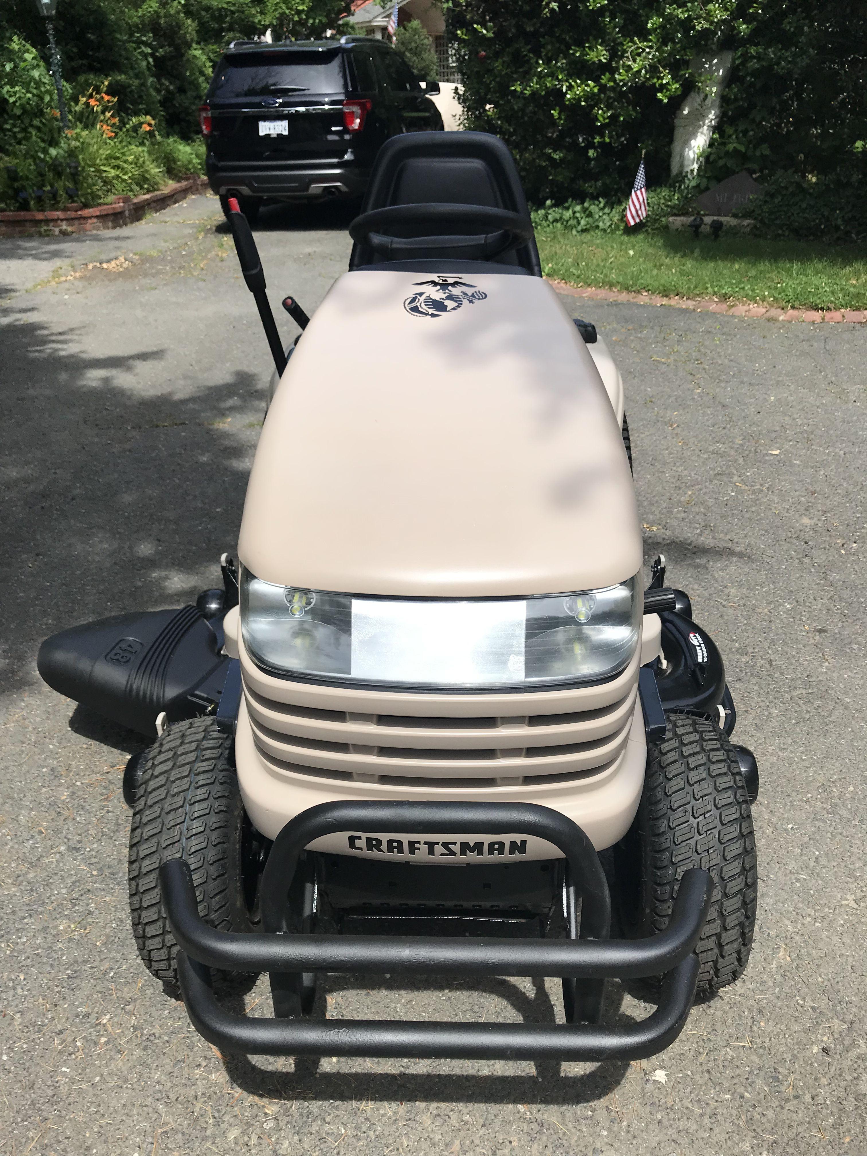Usmc Craftsman Gt5000 Tractor I Restored April 2019 Tractors Golf Carts Lawn Mower