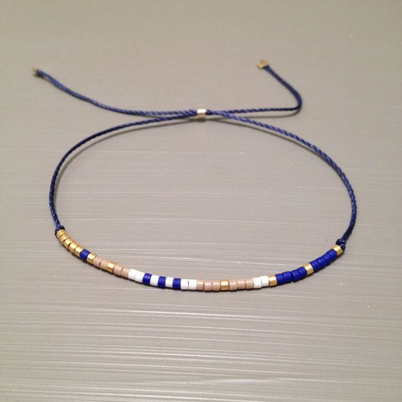 Delicate Layering Bracelet Friendship Bead Silk String Is Made Of A Miyuki Delica Beads And Thread This Handmade