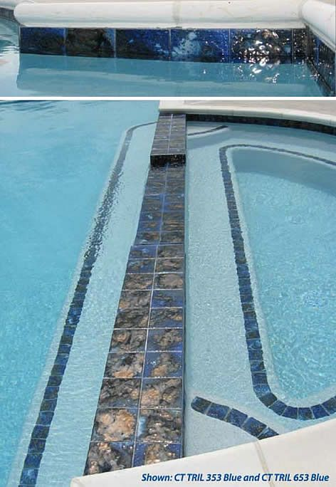 A White Chevron Patterned Pool House Why Not Swimming Pool Tiles Pool Tile Designs Modern Pools