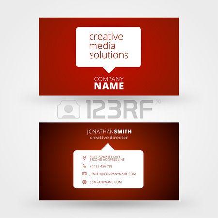 Stock Photo Visitenkarten Vorlagen Ideen Kreative