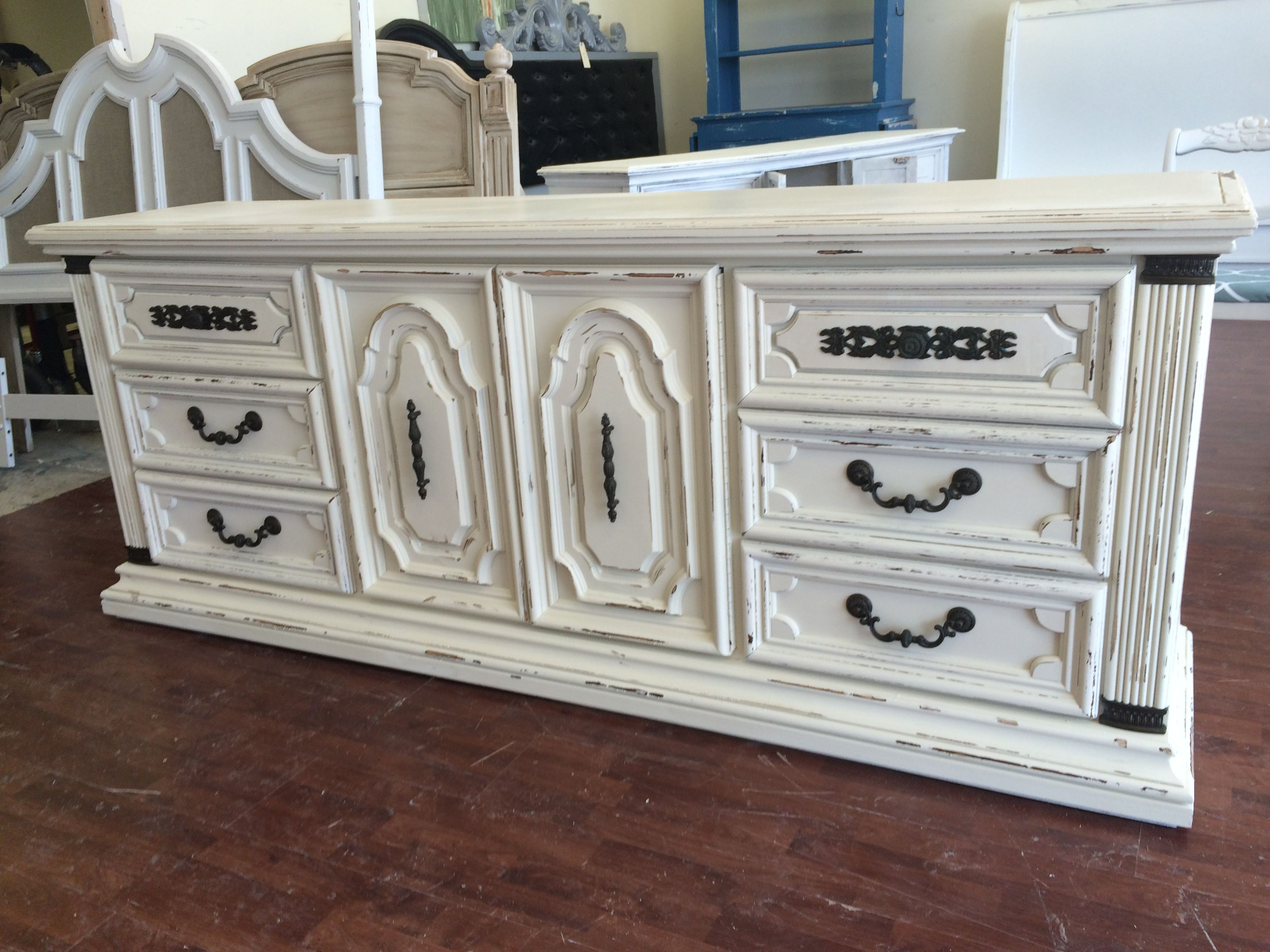 This Is Quite Simply One Gorgeous Monster Lol It Is Huge Heavy And Really Ornate And I Painted French Country Furniture Shabby Chic Dresser French Furniture