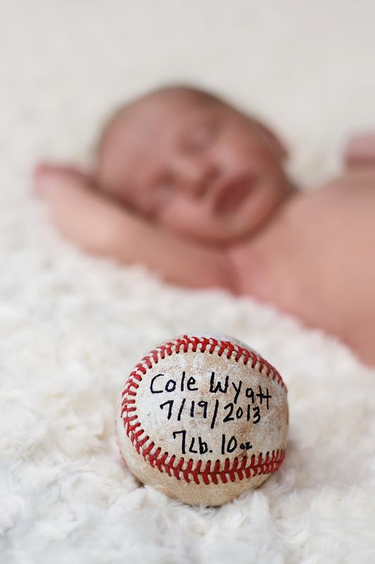 Baseball birth announcement portfolio newborns babies a thousand words photography