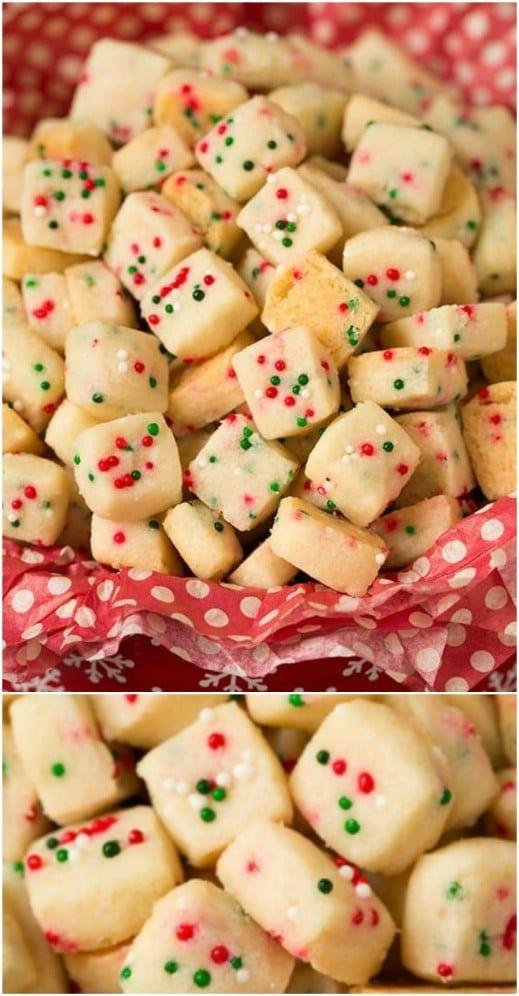 Christmas shortbread bites
