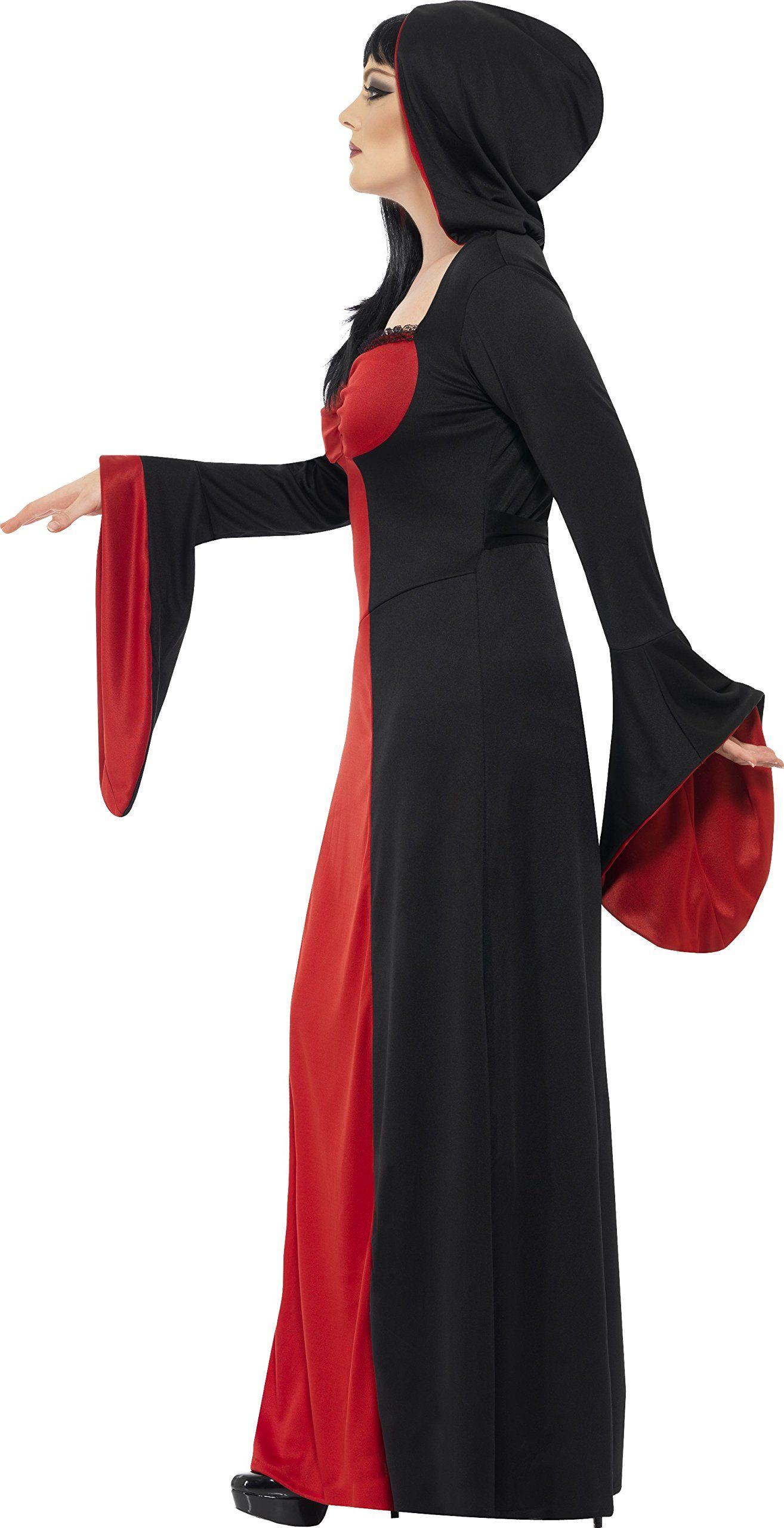 804dcc283 Smiffys Womens Dark Temptress Costume Dress and Hood Legends of Evil Halloween  Plus Size 2224 40077