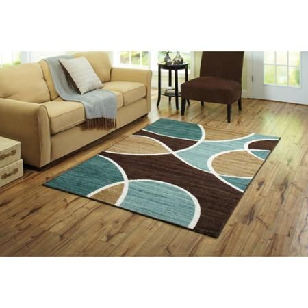 Better Homes And Gardens Geo Wave Textured Print Nylon Area Rug