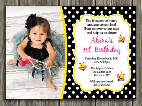 Printable bumble bee birthday invitation bug girl first birthday printable bumble bee birthday invitation bug girl first birthday party idea polka dot bugs free thank you card included matching party package stopboris Image collections