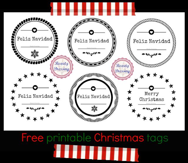 Freebies. Etiquetas craft para regalos de Navidad imprimibles y ...