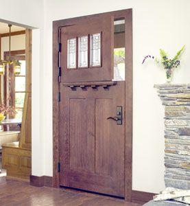 I Like The Craftsman Style Detailing On The Door Shelf