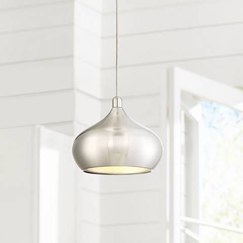 Possini euro holland 7 1 2w satin nickel led mini pendant