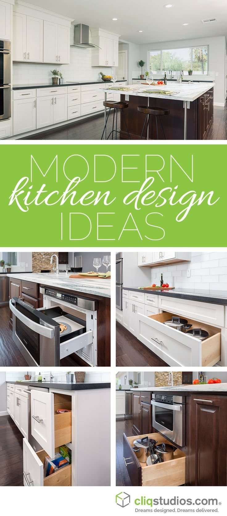 Modern kitchen design is all about functional space, smart storage ...