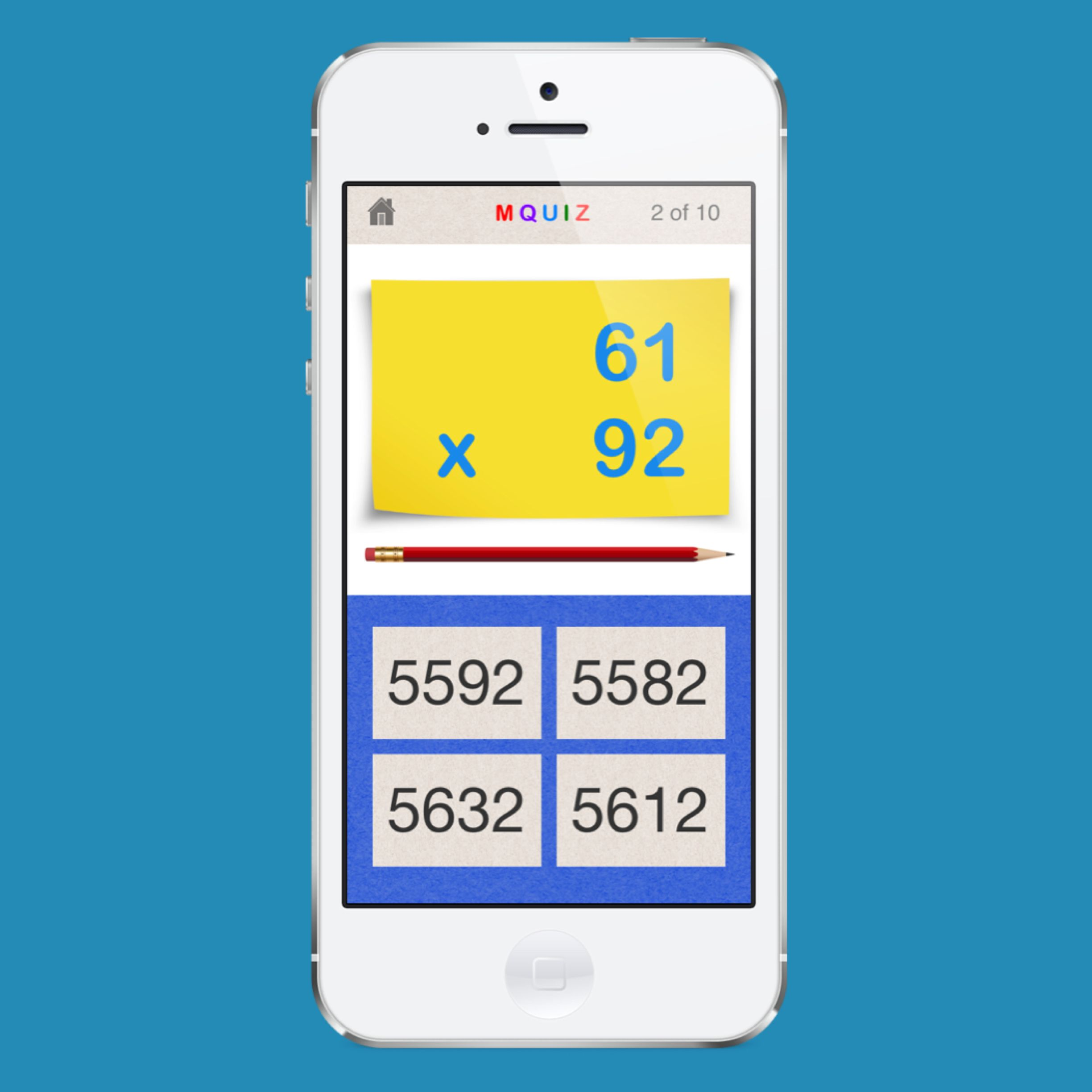 Two-digit Multiplication. The answer is __? http://itunes.apple.com ...