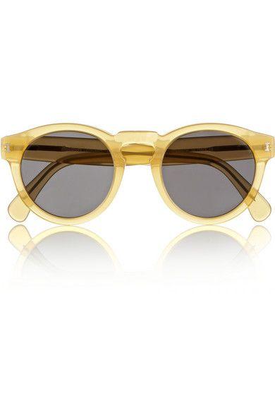Illesteva - Leonard round-frame acetate sunglasses