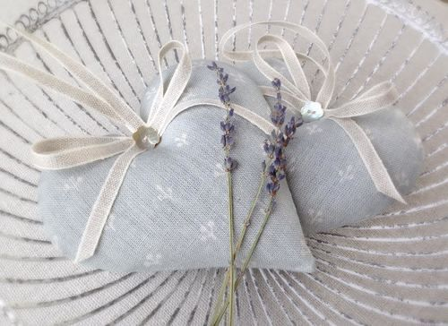 Peony & Sage Seamist Sprig Lavender Heart by Clarabelle Interiors