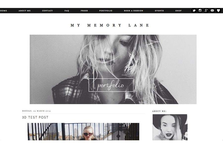 Fashion Blog Design & Layout | Page Design | Pinterest