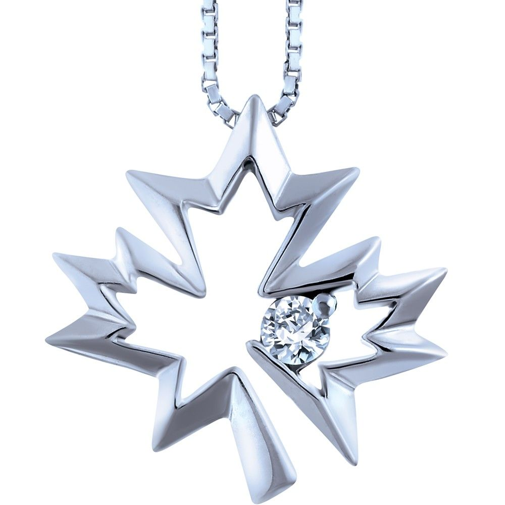 metallic maple pendant dsquared leaf in lyst jewelry