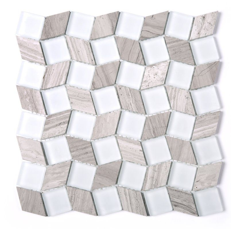 Geometry Diamond 1 X 1 Marble Mosaic Tile Marble Mosaic Mosaic Tiles Stone Mosaic Tile