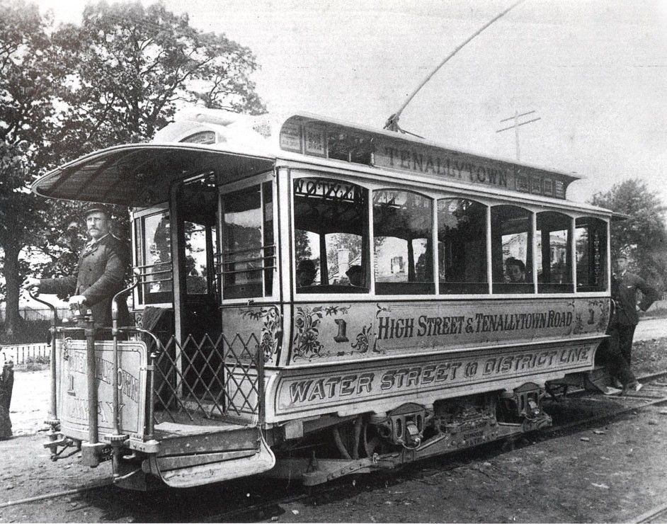Streetcar on High Street (Wisconsin Avenue) (1896). D.C