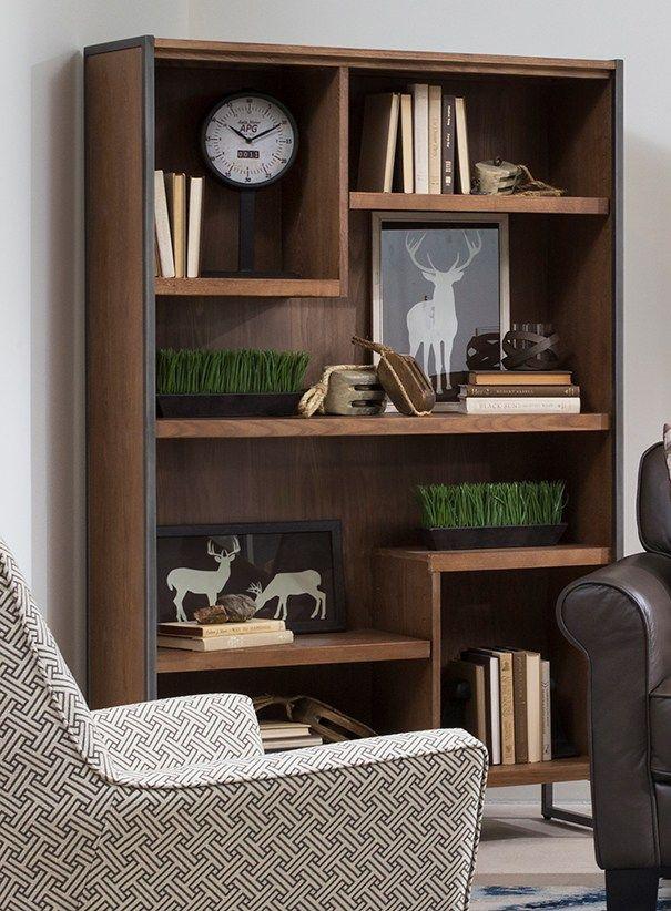 how to make bookshelves look built in