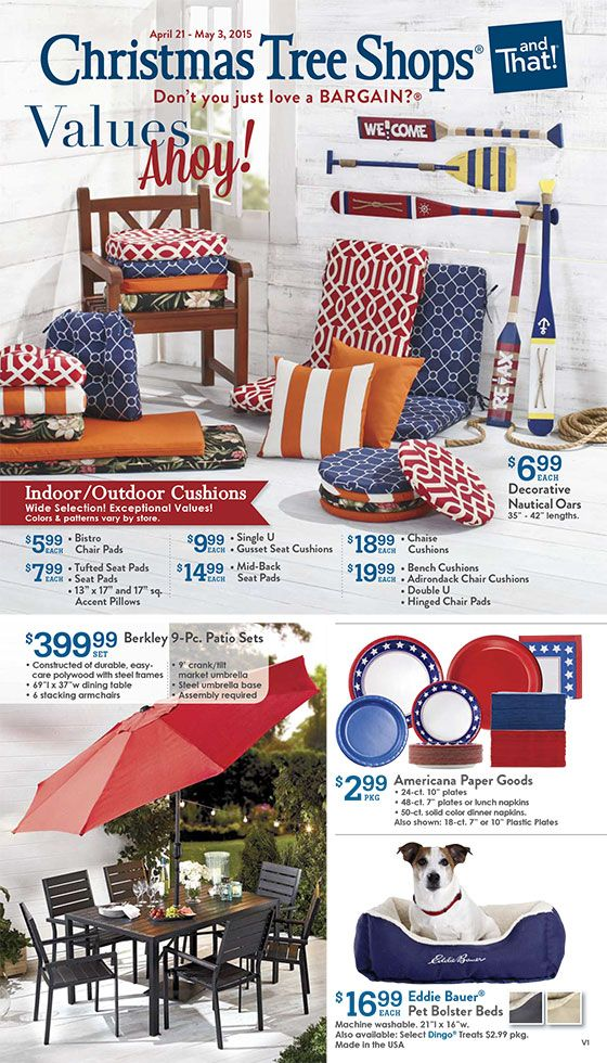Our Latest Ads Christmas Tree Shop Summer Decor Outdoor Cushions
