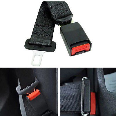 "Universal 14/"" Car Seat Belt Seatbelt Safety Extender Extension 7//8/"" Buckle New"