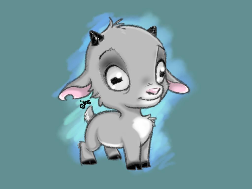 I Wanted To Draw A Cute Goat Goat Cartoon Cute Drawings Cute Kawaii Drawings