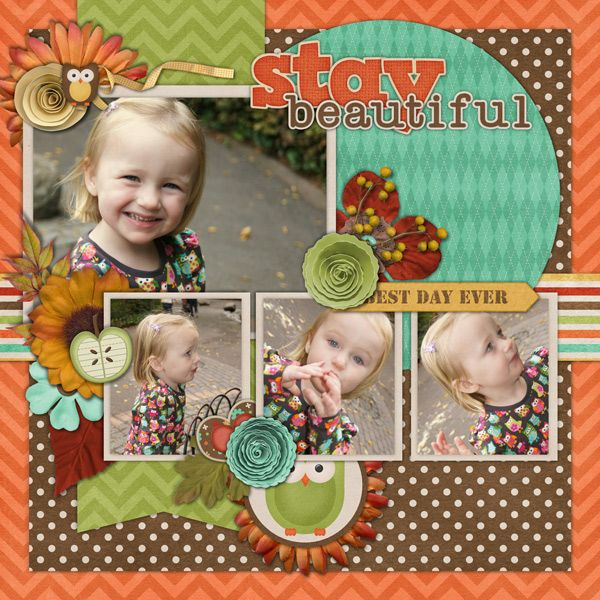 Image detail for -stay beautiful - Digital Scrapbooking Layouts