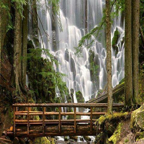 Amazing waterfall, Croatia