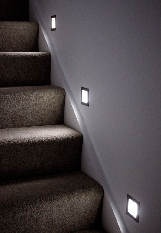 Lighting Basement Washroom Stairs: Unique Lighting For The Staircase
