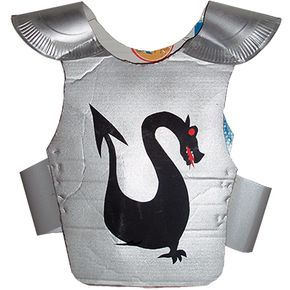 Armure de chevalier au dragon noir - déguisement - Tête à modeler   Armure chevalier ...
