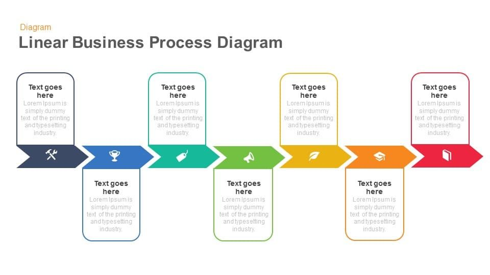 linear business process diagrams template for powerpoint and keynote is a  professional creation to show the linear busi… | templates, process flow,  keynote template  pinterest