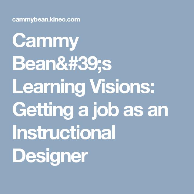 Getting A Job As An Instructional Designer Instructional Design Instructional Design Jobs Instruction