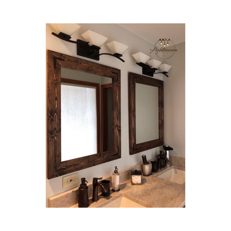 Espresso Mirror Set Cottage Mirrors Double Mirrors Floor