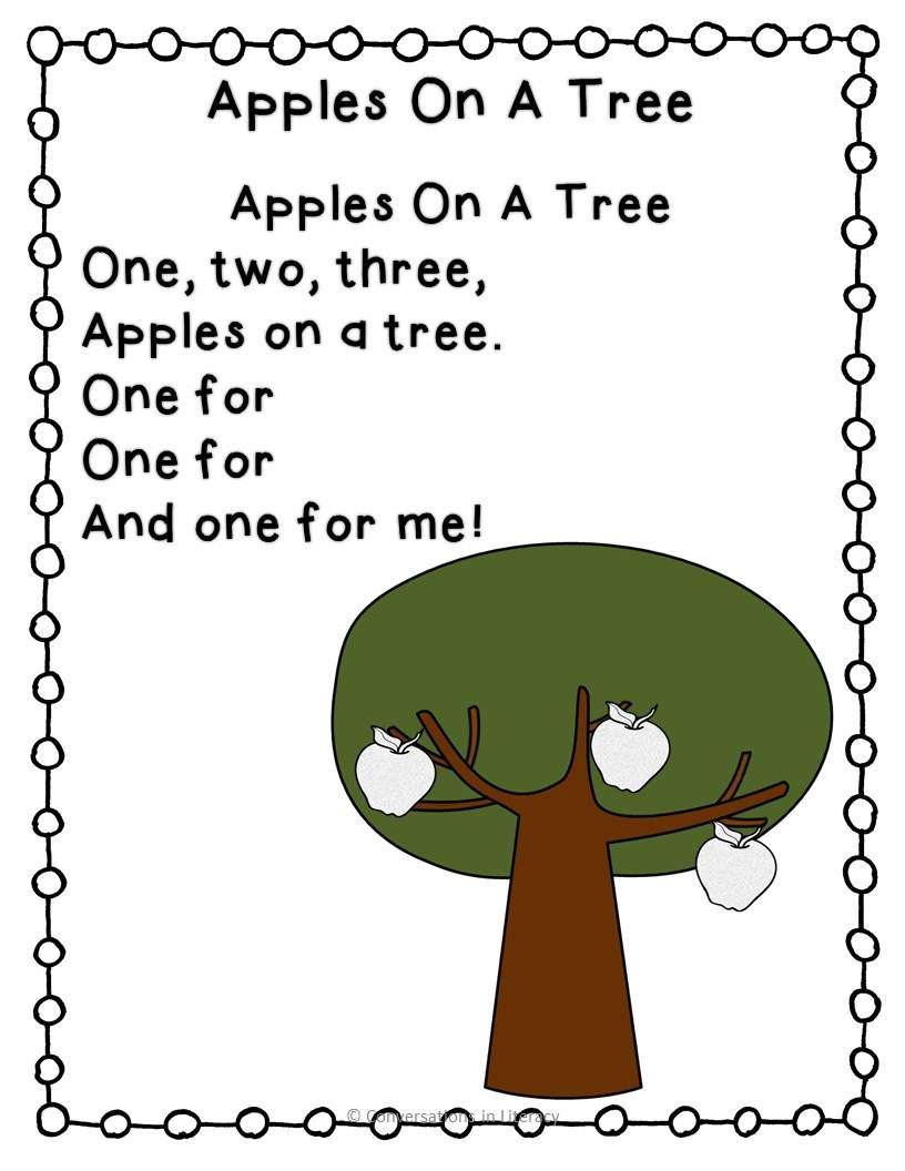 Apple Poem & Names | Apples, School themes and Literacy