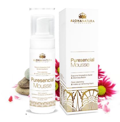 Puresencial Mousse.Limpiador facial en mousse, sin jabón, fórmula suave y de calidad bio.