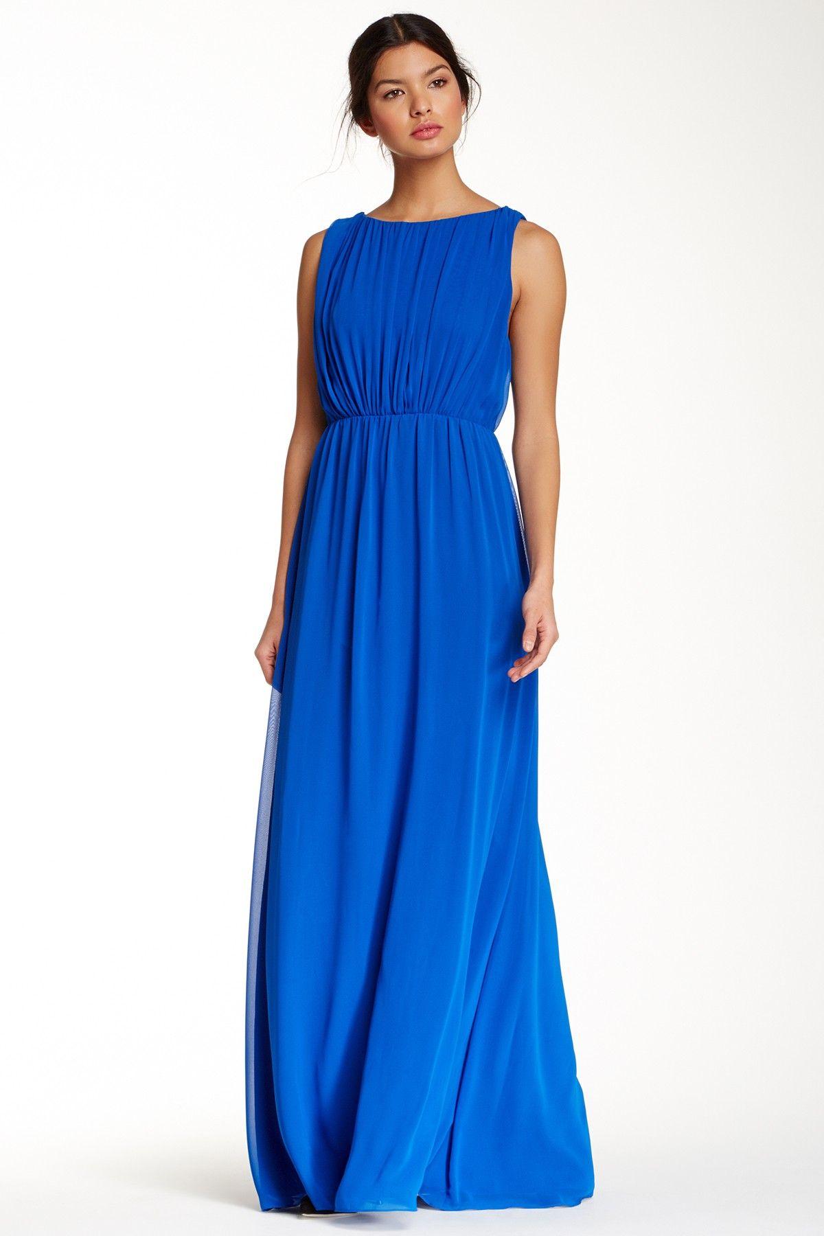 Alice Olivia Soleil Silk Blend Bright Blue Maxi Dress Nordstrom Rack Maxi Dress Dresses Maxi Skirt Dress