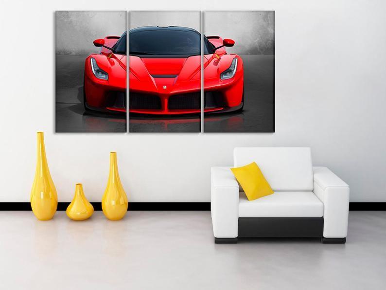 Ferrari Sport Car Ferrari Poster Garage Art Car