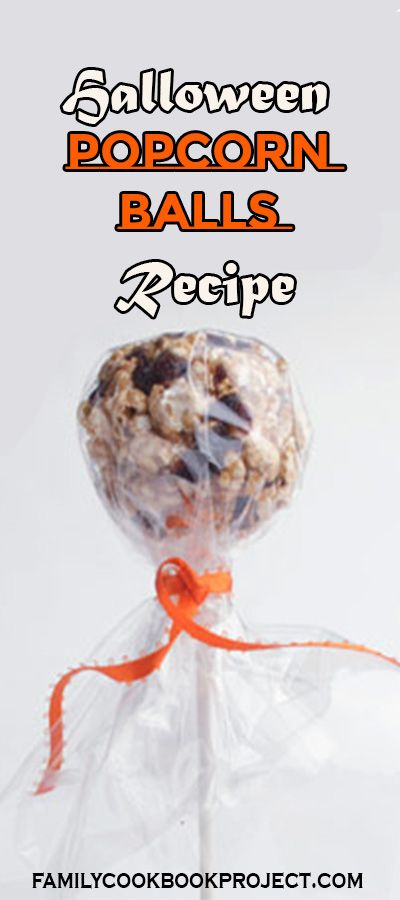 This recipe for Halloween Popcorn balls, by Breanna Sutphen, is from Breanna Sutphen's Cookbook, one of the cookbooks created at FamilyCookbookProject.com. We'll help you start your own personal cookbook! It's easy and fun. #popcornballs