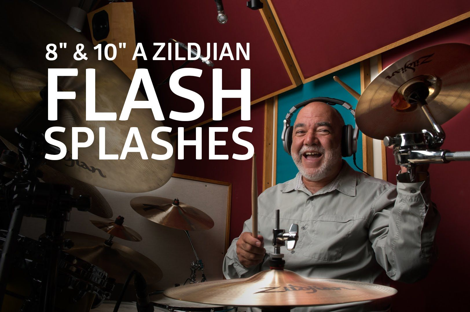 "8"" & 10"" A Zildjian Flash Splashes with Peter Erskine"