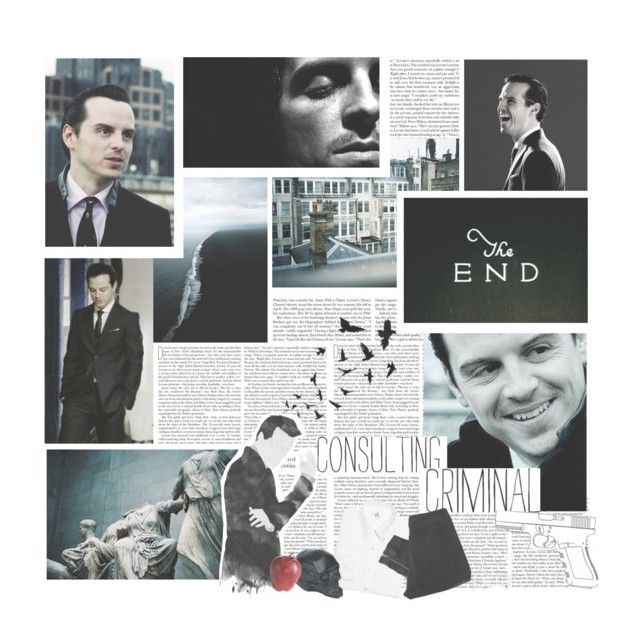 """moriarty."" by xmishake ❤ liked on Polyvore"