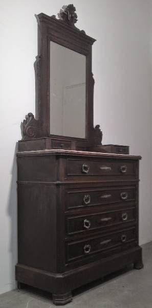 Commodes ancien meuble coiffeuse commode tiroirs for Meuble a tiroir ancien