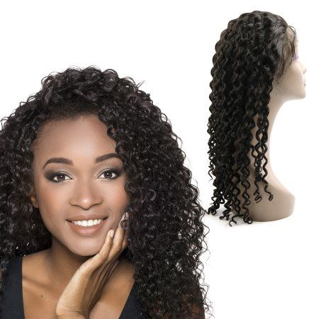 Human Hair Wigs 24 Inch Deep Curly Lace Front Glueless Brazilian