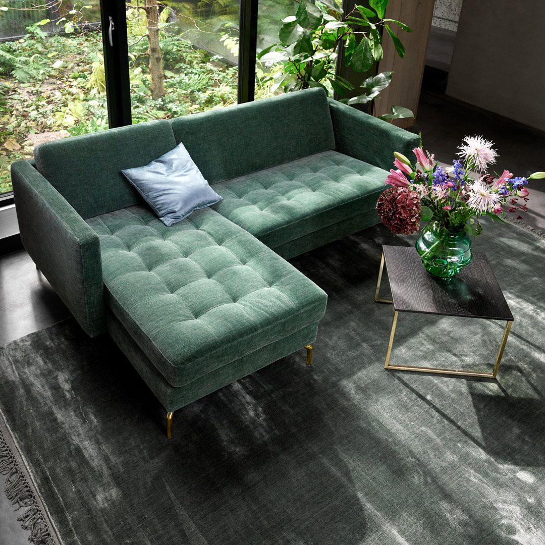 BoConcept Smartville sofa, functional coffee table, and