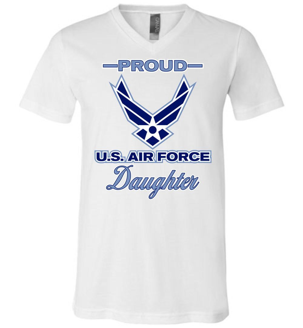 Proud U.S. Air Force Daughter Unisex V-Neck T-Shirt