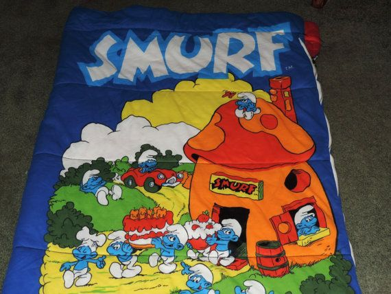 FREE SHIPPING Smurfs Get Along Gang 1984 Sleeping by VintyThreads The good ole' 1980s