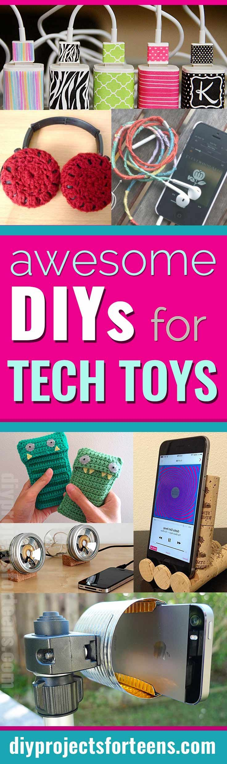 Awesome diys for your tech toys tablet phone ipad tablet and fun