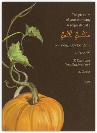 Pumpkin on Vine - Paperless Post