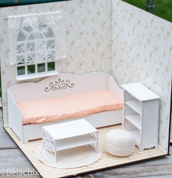 Bereit zu spielen Vorgefertigten 1 4 Größe von BelachixDollWorld - barbie wohnzimmer möbel
