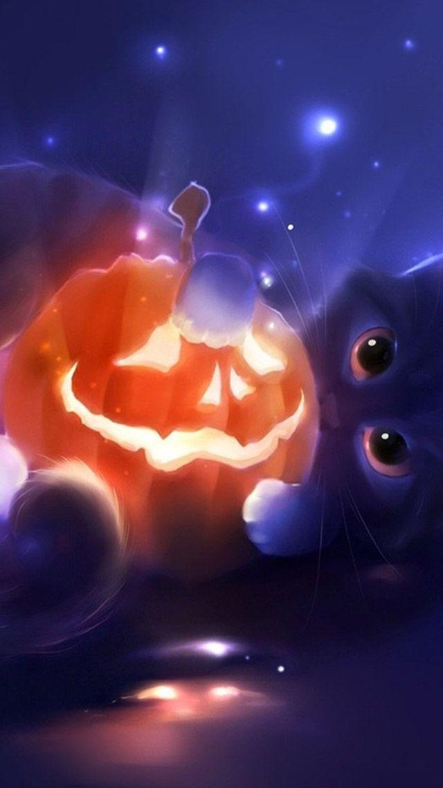 Halloween Iphone Wallpaper Background Halloween Wallpaper Halloween Cat Halloween Art