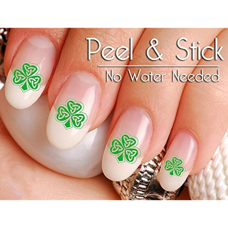 st patrickus day celtic shamrock nail art decal sticker set